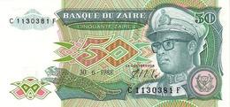 ZAIRE 50 ZAIRES 1988 P-32 UNC [ ZR117a ] - Zaire