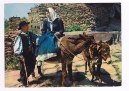 Corse En 1965 Anes N°1285 Un Sourire Pour Le Galant Folklore Costumes - Anes