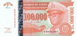 ZAIRE 100000 NOUVEAUX ZAIRES 1996 P-76 UNC [ ZR150a ] - Zaïre