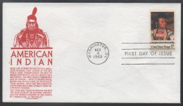 INDIENS - NEZ PERCE  / 1968 USA ENVELOPPE FDC ILLUSTREE (ref LE445) - American Indians