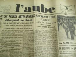 """Journal/""""L´Aube""""/Liége Est Libérée / Un Ministére D'Unanimité Nationale Est Formé Par Le Général /10 Sept 1944   VJ95 - Militaria"""