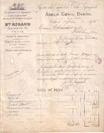 HERAULT - CETTE , SETE - AGENCE DES PAQUEBOTS POSTE ESPAGNOLS , ADELA , GENIL , DARRO - BMY RIGAUD - LETTRE - 1876 - Transport