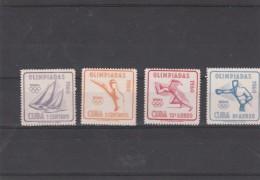 Jeux Olympiques ROME 1960 -  CUBA ** MNH - Summer 1960: Rome
