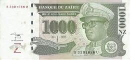 ZAIRE 1000 NOUVEAUX ZAIRES 1995 P-67 AU WITH STAINS [ ZR145b ] - Zaire