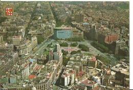 Barcelona (Cataluna, Espana) Plaza Catalunya - Vista Aerea, Cataluna Square - Aerial View, Cataluna Platz - Luftansicht - Barcelona