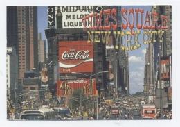 NEW YORK . TIMES SQUARE .coca Cola  -TBE-RECTO/ VERSO-C49 - Time Square