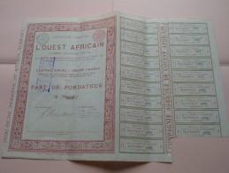 Compagnie Agricole L'OUEST AFRICAIN - N° 1386 ( Voir Photo Pour Detail )! - Agriculture