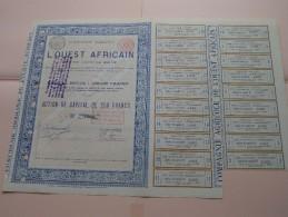 Compagnie Agricole L´OUEST AFRICAIN - N° 1363 ( Voir Photo Pour Detail )! - Landbouw
