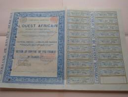 Compagnie Agricole L´OUEST AFRICAIN - N° 2521 ( Voir Photo Pour Detail )! - Agriculture