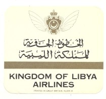 KINGDOM OF LIBYA AIRLINES - Étiquettes à Bagages