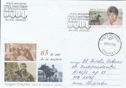 CINEMA, GRIGORE GRIGORIU, ACTOR, COVER STATIONERY, ENTIER POSTAL, 2011, MOLDOVA - Cinema