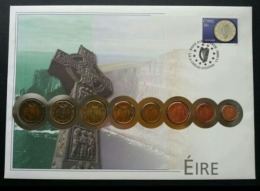 Ireland Euro Coin 2002 Bank Currency Money Building Landmark FDC (coin Cover) *rare - 1949-... Republic Of Ireland
