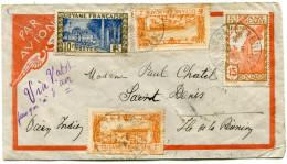 GUYANE LETTRE PAR AVION DEPART CAYENNE 20-5-38 GUYANE FRANCAISE POUR LA REUNION - Guyane Française (1886-1949)