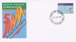 Papua New Guinea Postal Stationery Ganzsache Entier South Pacific Commission 50th Anniversary FDC Port Moseby 1997 - Papouasie-Nouvelle-Guinée
