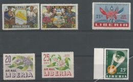 LIBERIA: **, PA N°59-60-66-89-90 Et 139, TB - Liberia