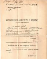 """LETTERA INTESTATA """"MUNICIPIO DI PIAZZOLA SUL BRENTA"""" AFFRANCATA DE LA RUE CENT. 2 BORDO DI FOGLIO - 1900-44 Vittorio Emanuele III"""