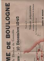 Affiche Notre Dame De Boulogne Diocèse Grenoble 1945 Triduum Carte De Passage Prière Pénitence Consécration Rare - Affiches
