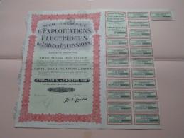D'Exploitations Electriques De LODZ Et EXTENTIONS Bruxelles - N° 101085 ( Details Photo ) ! - Electricité & Gaz