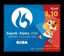Croatia 2016, European University Games In Zagreb - Rijeka 2016., MNH/** - Stamps