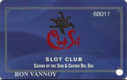 Casino Of The Sun Tucson, AZ Slot Card - 2nd Issue - Reverse Paragraph 25mm High - Casino Cards