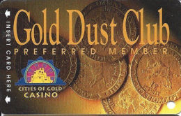 Cities Of Gold Casino - Santa Fe, NM - Slot Card - Reverse Mentions 18 Monhts Inactivity  (BLANK) - Casino Cards