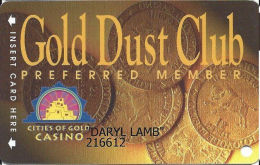 Cities Of Gold Casino - Santa Fe, NM - Slot Card - Reverse Mentions 18 Monhts Inactivity - Casino Cards