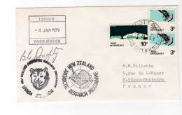 LETTRE - TERRE DE ROSS - SCOTT BASE  : 04/01/1979 - Ross-Nebengebiet (Neuseeland)
