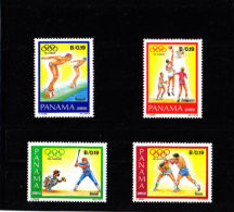 Panama, 1984, Olympic Summer Games Los Angeles, MNH, Michel 1575-1578 - Panama