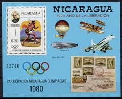 Nicaragua, 1980, Olympics 1980, Rowland Hill, UPU, United Nations, Concorde, Zeppelin, MNH, Michel Block 111 - Nicaragua