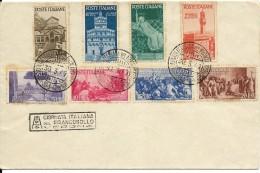 Busta Affrancata Con Annullo  Serie Completa Francobolli Avvento  Repubblica Obliterata 1947 - Italie