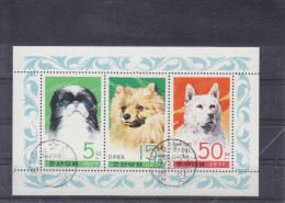 "KP 1977, DPRK - Block ""Hunde"" Gestempelt Mit Originalgummi - Korea (Nord-)"
