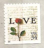 USA. Scott # 3498 MNH. From Vending Booklet Love 2001 - Rosas