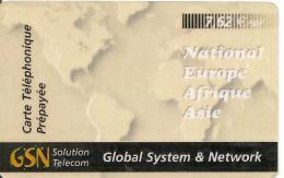 CARTE*-PREPAYEE-50F 7.62€-GSN-31/12/02-GLOBAL SYSTEME & NETWORK-UTIL I S E-TBE - Frankrijk
