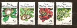 Cocos Keeling Islands 1989 Yvertn° 203-06 ***  MNH Cote 8,50 Euro Flore Fleurs Bloemen - Cocos (Keeling) Islands