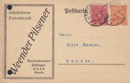 INFLA: DR 206, 227 A MiF., Der Fa. Weender Pilsener Vereinsbrauerei Göättingen, Mit Stempel: Weende 14.1.1923 - Infla