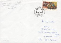 """SCHIFFSPOST,  SS """"President Van Buren"""", Der American President Lines,  Paquebot Hong Kong 12.JA 1976 - Maritime"""