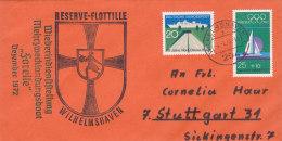 """SCHIFFSPOST, Mehrzwecklandungsboot """"Forelle"""", Wiederindienststellung, Wilhelmshaven 4.1.1973"""