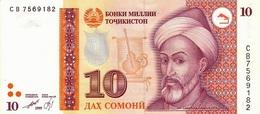 TAJIKISTAN P. 16a 10 S 1999 UNC - Tadjikistan