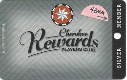 Cherokee Casino Catoosa, OK - Slot Card - PO Box# In Address - 43mm Silver Member  (BLANK) - Tarjetas De Casino