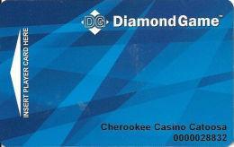 Cherokee Casino Catoosa, OK - Slot Card - Diamond Game - Tarjetas De Casino