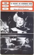 Fiche De Mr Cinéma LE SECRET DE VERONIKA VOSS - Réalisateur Werner Fassbinder - ALLEMAGNE 1982 - Cinemania