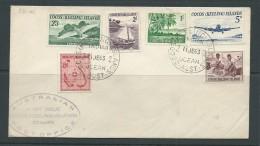 Cocos Keeling Island 1963 Definitive Set Of 6 On FDC Appears Unadressed But Erased Address - Cocos (Keeling) Islands