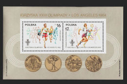 Poland, 1984, Olympic Summer Games Los Angeles, MNH, Michel Block 94 - Poland