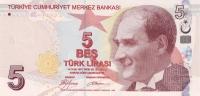 TURKEY P. 222a 5 L  2009 UNC - Turquie
