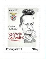 S. L. BENFICA - Rogério Carvalho - FIGURAS HISTÓRICAS 1.ª Série - O Meu Selo - Cartoon Portugal - Unused Stamps