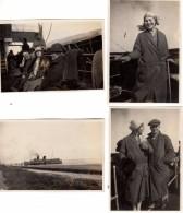 4 Photos Originale Navire - Paquebot & Ambiance Croisière EN 1927 Une Famille Allemande - Vapeur à Identifier