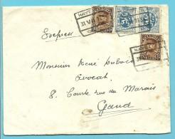 285+341 Op Brief Per EXPRES Met Spoorwegstempel HAYETTES Op 31/7/1934 - 1931-1934 Kepi