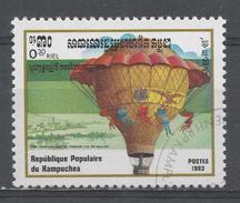 Kampuchea 1983, Scott #413 1st Hot Air Balloon Ascension, Bicent. Ville D'Orleans (U) - Kampuchea