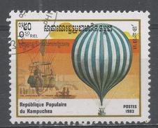Kampuchea 1983, Scott #414 1st Hot Air Balloon Ascension, Bicent. Hydrogen Balloon (U) - Kampuchea