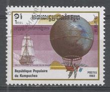 Kampuchea 1983, Scott #415 1st Hot Air Balloon Ascension, Bicent. Blanchard & Jeffries 1785 (U) - Kampuchea
